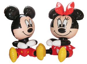 ミッキー&ミニー抱き人形 (小)